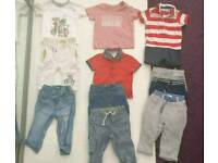 Bundle of boys clothes aged 6-9 months