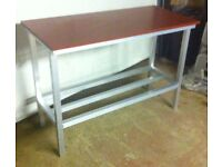 Poly top meat cutting table