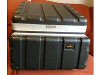 ABS flightcase, DJ carry case for eg.10U mixer and 4U CD/Amp.