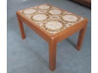 G Plan coffee table - teak with tile top
