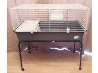 Rabbit/guinea pig cage on stand