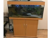 180l fish tank with cabinet, plus lot of job