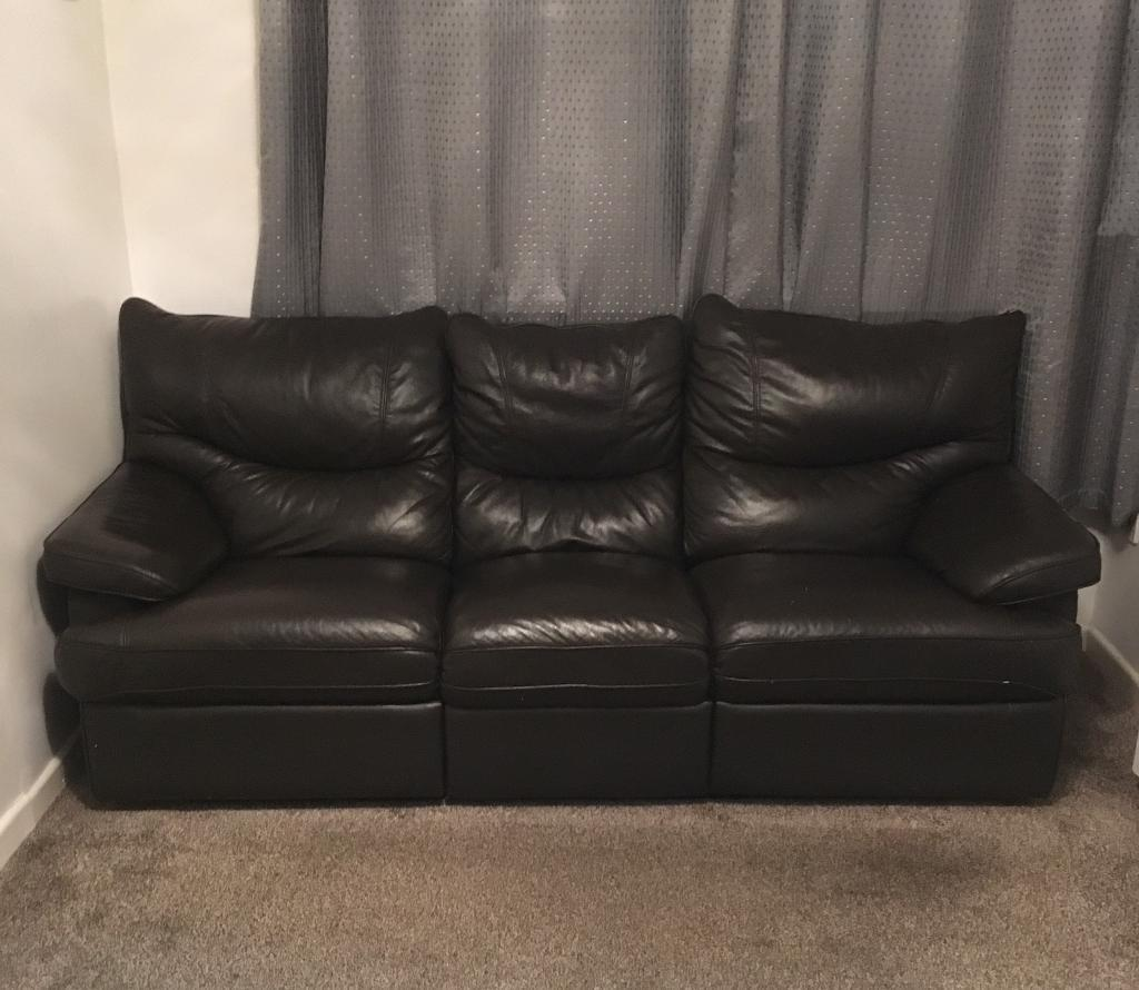 Leather Sofas 3 seater & 2 seater