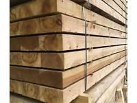 Garden wooden sleepers