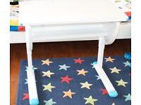 HJH Office Smile Children's Desk Adjustable Height and Tilt Blue/White