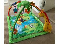 Fisher-Price Melodies and Lights Deluxe Gym and Playmat