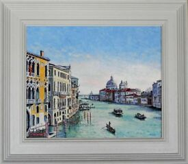 FRAMED ORIGINAL NEW OIL PAINTING OF VENICE by TIM BALL
