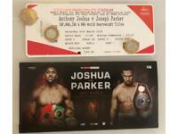 4x Anthony Joshua v Joseph Parker Tickets, Mid Tier 20, Row 6, Excellent Seats!!