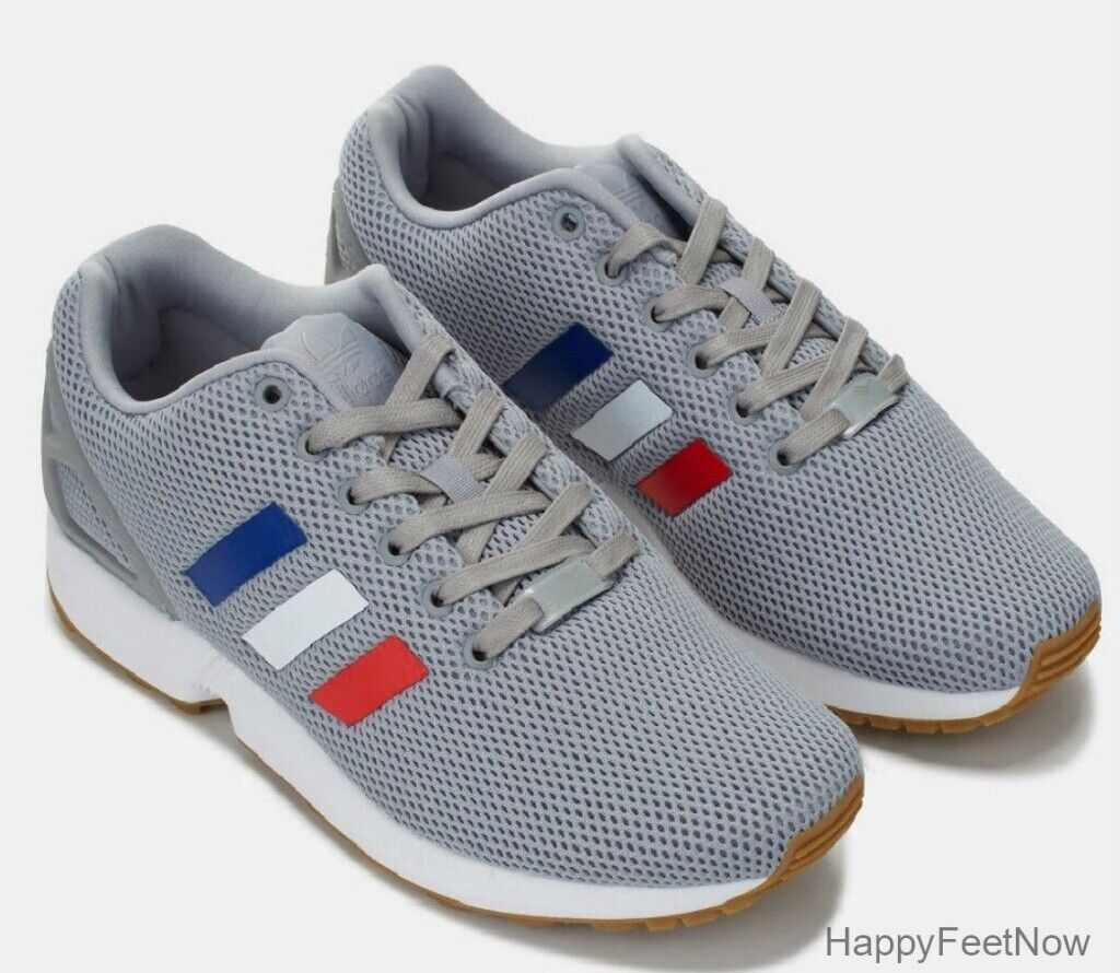Brand New in Box Adidas original ZX Flux Torsion Running Shoes Men s Grey  Tri-color SIZE 9.5 11b47b407
