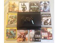 SONY PLAYSTATION SUPERSLIM PS3 CONSOLE BUNDLE & 10 GAMES CALL OF DUTY MW 2 MW3 MW4 UNCHARTED MOH
