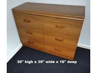 Bedroom furniture wood effect. 5 pieces in all