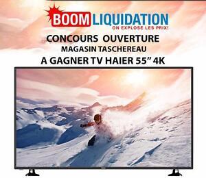 Gagner une TV HAIER 55PO 4K pour L'ouverture de notre magasin!