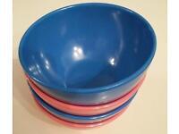 Melamine bowls x4