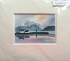 Giclee print by Caroline Simmill entitled Ben Nevis from Corpach