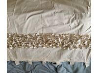 Neutral frill design curtains