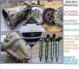 SPRINTER 311 313 W906 CLUTCH FLYWHEEL GEARBOX AXLE DIFF TURBO INJECTOR ENGINE BODY MECHANICAL PARTS