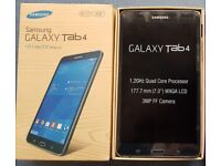 SAMSUNG GALAXY TAB 4 7 INCHES WIFI 8 GB WITH SD CARD - FREE RUBBER CASE, BOXED