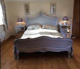 KING SIZE BED FEAME , LA ROCHELLE , FRENCH ANTIQUE STYLE , IMMACULATE CONDITION