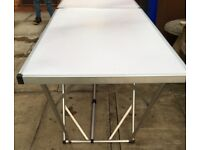 Trestle Table TRESTLE TABLE ALUMINIUM FRAME &LEGS OPEN 78 INCHES LONG 39 INCHES CLOSED