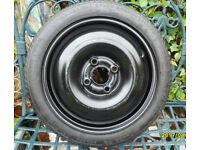 spare wheel and tyre new. 4 stud V.W.