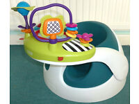 Mamas And Papas Baby booster bumbo SNUG SEAT chair with tray & activity tray;in very good condition