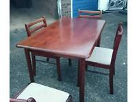 Mahogany Christmas Dinner / Dining Table and Chairs