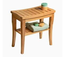 Bathroom bamboo stool