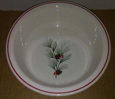 Fiesta® Dinner Ware Vegetable Serving Bowl Christmas Pine Needle & Cones RETIRED ()
