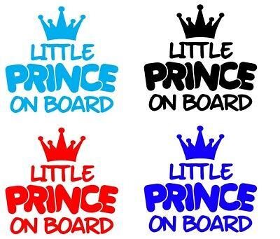 Little Prince On Board Baby Child Window Bumper Car Sign Window Sticker SALE