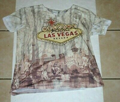 Las Vegas Themes (womens XL Banana Expressions New York   Las Vegas themed embellished)