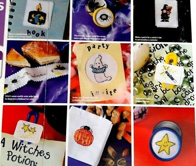 Halloween -  cross stitch chart - 50 spooky gift ideas - From a magazine