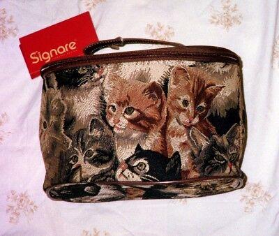 Cat design large tapestry makeup case](Cat Makeup)