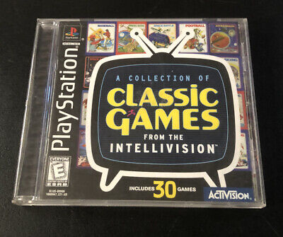 Intellivision Classic Games Sony PlayStation 1 1999 CIB Complete Video Game PS1