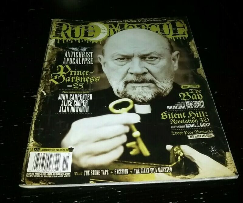 Rue Morgue Magazine #128 November 2012 Prince of Darkness horror