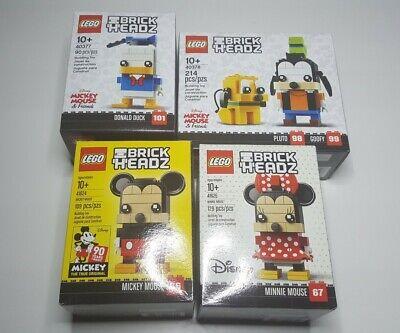 Lego 41624 41625 40377 40378 Disney Brickheadz Mickey Minnie Mouse Lot