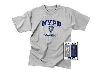 Nypd Physical Training T-shirt - Rothco 6650 T- Shirt Genuine NYPD Physical Training Tee Shirt - Grey