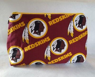 Redskins Football NFL Makeup Pouch Knitting Crochet Project Bag Zipper](Football Makeup)
