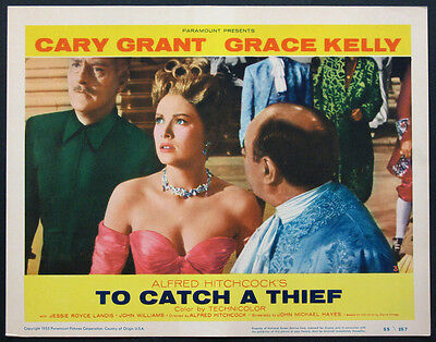 TO CATCH A THIEF HITCHCOCK GRACE KELLY 1955 LOBBY CARD #3