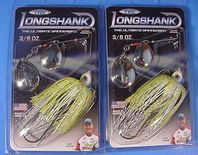 "Lot of 2 /""THE LONGSHANK/"" 1//4 oz Spinnerbait Gold Shiner DWGG-060"