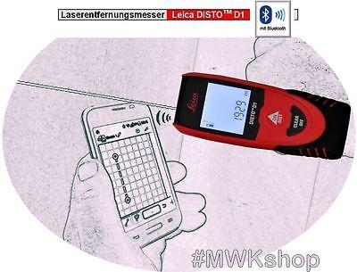 Leica DISTO D1 (neues Modell) Laserentfernungsmesser mit Bluetooth