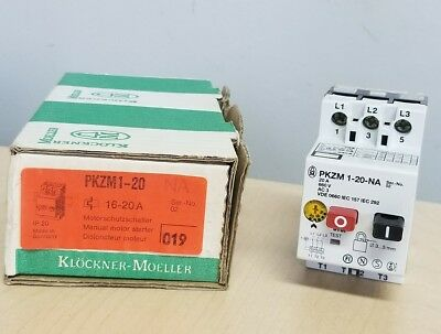 Klockner Moeller Pkzm1-20 Motor Protector Lot Of 2 New In Box