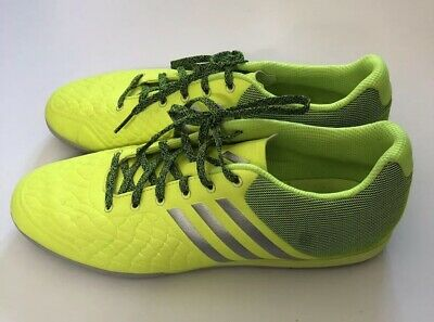 16b5aa5fe Adidas Mens Size 12 Neon ACE 15.2 CG Indoor Soccer Cleats Yellow Black Green