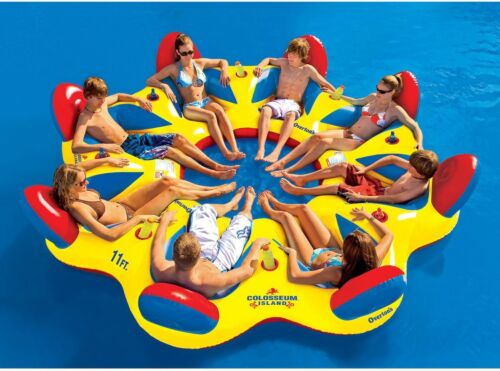Inflatable Raft Floating Island Lake Toys Party Float For 8 People Boating Toys