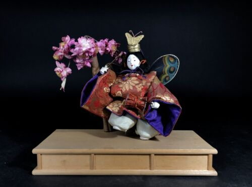 Antique NINGYO Japanese Doll Playing Drums KABUKI Butterfly Dance