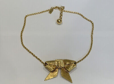 Kate Spade Gold-tone Bow Necklace