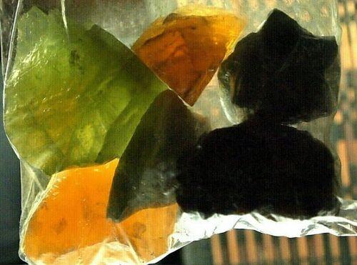 Calcite-rough blue,Green,orange-specimen(6pc)1906.51ct,13.45oz,63x51x21m,CA-A10A