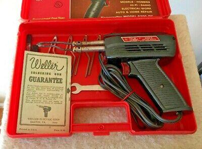 Weller 8200-n Dual Heat Soldering Gun 100140 Watts Case Kit W Access. Vintage