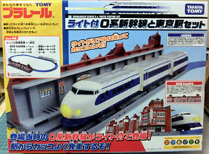 TOMY-PLA-RAIL-PLARAIL-Tokyo-Station-With-O-Series-Shinkansen-Motorized-Light-up