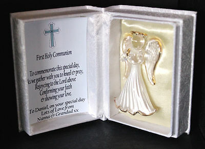 First Holy Communion Commemorate Personalised Angel gift for Boy #7 - Communion Gift For Boy