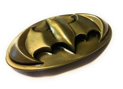 Batman Logo Belt Buckle - Sweet! Batman  Logo belt buckle (full metal Bronze color) DC,collectible cosplay